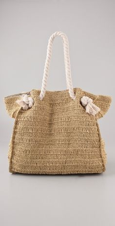 Summer Straw Tote - I think I could try to make this...