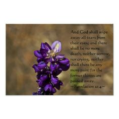 Revelation 21:4 posters from Scripture Classics #zazzle #gift #photogift #Christian