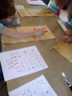 Kids activity ideas for Ancient Egyptian history - hieroglyphics