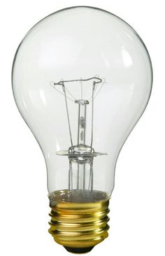Pack of 25 Transparent Clear E26 Base Replacement A19 Light Bulbs - 25 Watts