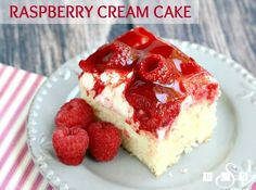 Raspberry Cream Cake made with lovely white cake and topped with sweet whipped cream, raspberries and danish dessert. Wonderful raspberry cake recipe with great flavors. Raspberry Cream Cake is a favorite of mine! Fresh raspberries are in abundance these days so I decided it was the perfect time for me to make one of my favorite …