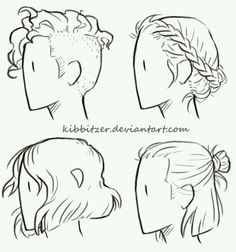 Image result for line drawing short hair