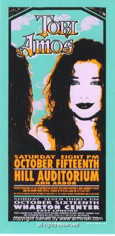 "Tori Amos (rats) (click image for more detail) Artist: Mark Arminski Number: MA-009a Venue: Hill Auditorium Location: Ann Arbor, MI Concert Date: 10/15/1994 Size: 10.5"" x 22"" Condition: Mint Notes: si"