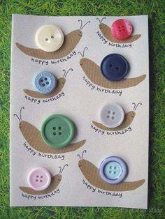Snail birthday card