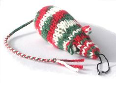 Very Christmassy Catnip Mouse for kitty this holiday.