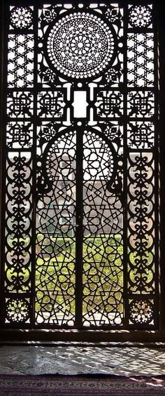 Geometric patterns in architecture Islamic Architecture, Art And Architecture, Architecture Details, Morrocan Architecture, Beautiful Architecture, Iron Gates, Moorish, Garden Gates, Doorway