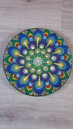 Peacock on plate is ready #mandala#peacockmandala#mandalaonplate#dotart#etsy#etsyshop#beautifulmandala#colour#colourful#happycolour#joycolour#beautifulplate. Art by Summer tH