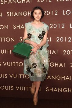 Fan BingBing wears Louis Vuitton Spring/Summer 2012 for the flagship store opening in Shanghai Louis Vuitton Prices, Louis Vuitton Bags, Louis Vuitton Dress, Fan Bingbing, My Fair Princess, Fashion Models, Fashion Trends, Fashion Designers, Chinese Actress
