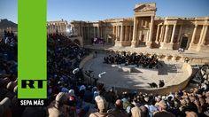 Concierto de música clásica a cargo de una orquesta rusa en las ruinas de Palmira