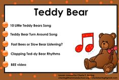 Just a Little More: Teddy Bear SMARTBoard Music Lesson