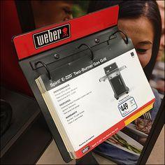 Weber Freestanding Catalog Display – Fixtures Close Up Weber Grill, Store Fixtures, Close Up, Catalog, Literature, Stationery, Display, Ring, Literatura