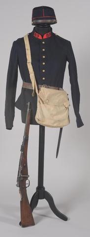 Tunique modèle 1879 du 89e Regt d'artillerie, période IIIe République.Exceptionnel