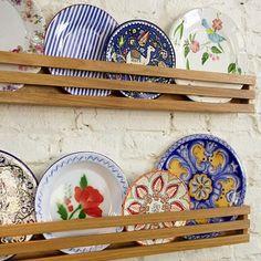 Plate Display, Display Shelves, Rustic Kitchen, Kitchen Decor, Bedroom Decor, Wall Decor, Plates On Wall, Decoration, Vintage Decor