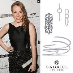 @emmacat looked PERFECT in our 14k white gold pieces while attending @entertainmentweekly's annual #SAGaward pre-party! (Style:  LR50415, EG13267, BG3918) #gabrielny #EWSAGAwardsParty #sagawards #oitnb #netflix