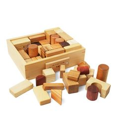 Loving this All Natural Wooden Block Set on #zulily! #zulilyfinds