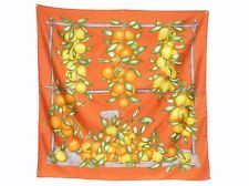 "100% Authentic Hermes Silk Scarf  ""Fruit"" Good Condition"