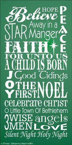 1503 - CHRISTMAS - Faith-christmas typography stencil faith jesus word art believe faith merry