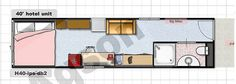 Shipping Container Floor Plan(No Kitchen) by Jesse C Smith Jr, via Flickr