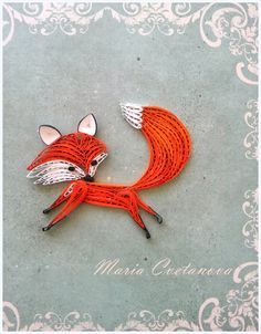 Quilling Seasons - paper fox, quilled fox