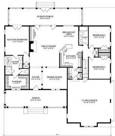 bungalow floor plan...look at that master closet!!
