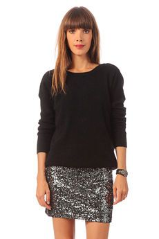 Jupe à sequins Club et pull angora Outfits Fiesta, Nye Outfits, Classy Outfits, Pull Angora, Look Fashion, Winter Fashion, Occasion Wear, What To Wear, Sequin Skirt