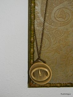 Vintage Repurposed Piece Necklace Atomic Power by RustIsVogue, $40.00
