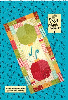 """""""Table Attire"""" table runner quilt pattern made with Holly Jolly fabric charm pack"""