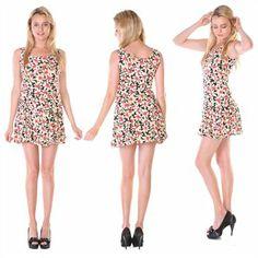 Stanzino Women's Assorted Multi-Print Mini A-Line Dresses #ootd #floraldress #fashion #springdress
