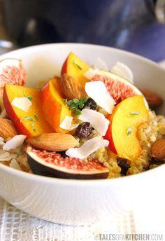 Breakfast quinoa w/ chia seeds & stone fruits