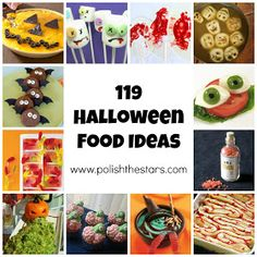 Polish The Stars: 119 Creepy Halloween Food Ideas creepy food for halloween Creepy Food, Creepy Halloween Food, Spooky Food, Halloween Goodies, Halloween Food For Party, Halloween Birthday, Halloween Boo, Holidays Halloween, Halloween Treats