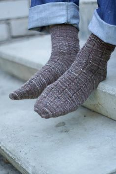 For the fellow with cold toes: handsome hand-knit socks.