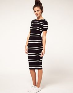 With a skinny belt and heels, right? Maybe in cognac or nude or turquoise or... Yep. This dress rocks. ASOS, $62.67.