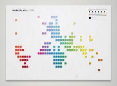 Worldflag System by Martin Oberhäuser, via Behance