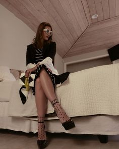 Stana Katic Z Photo, Stana Katic, Shoe Dazzle, Going Out, Stockings, Boots, How To Wear, Jackets, Outfits
