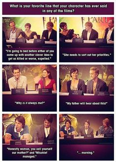 haha love how emma and rupert are so in sync.  i wanna know what the rest of the characters chose.