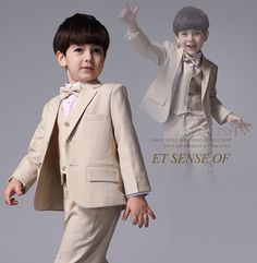Find More Boys' Attire Information about 2016 Soft Linen Boys' Attire Kids' Tuxedos Boys' Suit Beige Wedding Party Formal Occasion Suits (Jacket+Pants+Vest) Custom Made,High Quality pants classic,China pant gun Suppliers, Cheap jacket battery from The Way To Love Store on Aliexpress.com