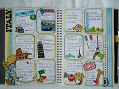 I like how this journal page is broken up into small journal entries but all lumped together...stealing this idea for my smash book!