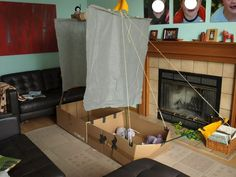 Sailing the Seven Seas (for a day or two) - The ultimate cardboard box boat.