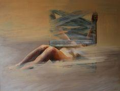 Cyprian Nocoń Private zone 100x130cm oil on canvas 2016