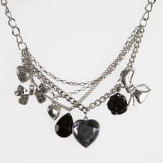 charm style necklaces images | Charlotte Russe Layered Charm Necklace