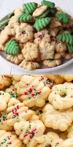 cream cheese cookies Easy Cream Cheese Spritz Cookies Recipe made with a cookie press, soft, buttery, sweet and delicious! Very easy to make with minimal effort, perfect for the holidays or a party! Easy Christmas Cookie Recipes, Christmas Snacks, Christmas Cooking, Easy Cookie Recipes, Holiday Desserts, Holiday Baking, Holiday Recipes, Dessert Recipes, Hard Candy Recipes