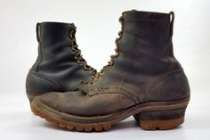 Vintage Hathorn Spokane Semi Dress Packer Work Boots. These boots are in good vintage condition, with only normal wear. #Etsyworkwearteam #menswear #mensvintagefashion