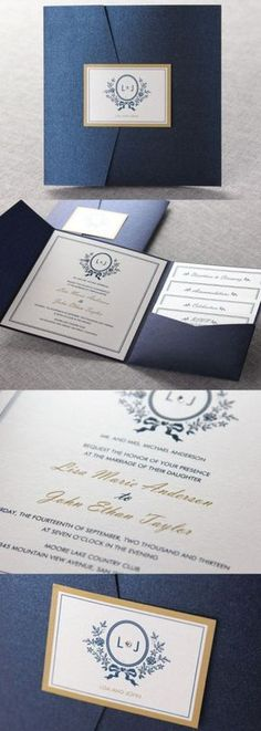 Cheap Navy Blue Pocket Laser Cut Wedding Invitation with Silver Glittery Belly Band Laser Cut Wedding Invitations, Wedding Invitation Cards, Wedding Cards, Graduation Cards, Graduation Ideas, Reception Card, Belly Bands, Grad Parties, Wedding Menu