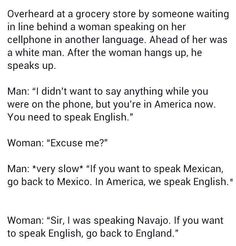 Language debate. (cf Super Bowl 2014 America Is Beautiful commercial)