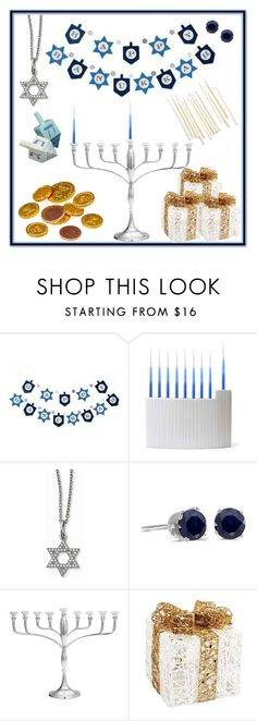 """""""Happy Hanukkah"""" by mlgjewelry on Polyvore featuring Jonathan Adler, Amanda Rose Collection, Williams-Sonoma and Melrose International"""