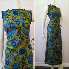 60s Dress Vintage Floral Mod Mid-Century Maxi M  http://www.etsy.com/listing/77342536/60s-dress-vintage-floral-mod-mid-century $54.00