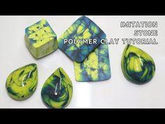 폴리머 클레이 원석 만들기 /Create an imitation stone - YouTube Polymer Clay Canes, Fimo Clay, Polymer Clay Jewelry, Clay Tutorials, Beading Tutorials, Fake Stone, Clay Videos, Paper Beads, Crafts