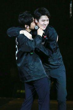160305 The EXO'luxion in Dalian. Sehun and Baekhyun (SeBaek) 'ㅅ' Baekhyun, Exo Ot12, Chanbaek, Exo Couple, Exo Concert, Xiuchen, Exo Luxion, Exo Korean, Kim Minseok