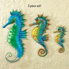 Seahorses Wall Decor - Set of 3