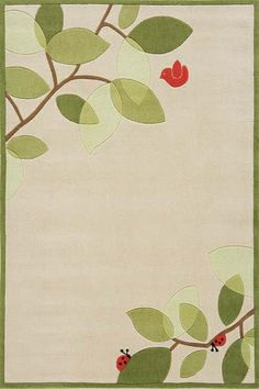 Nature nursery rug- Would be so cute for my sister